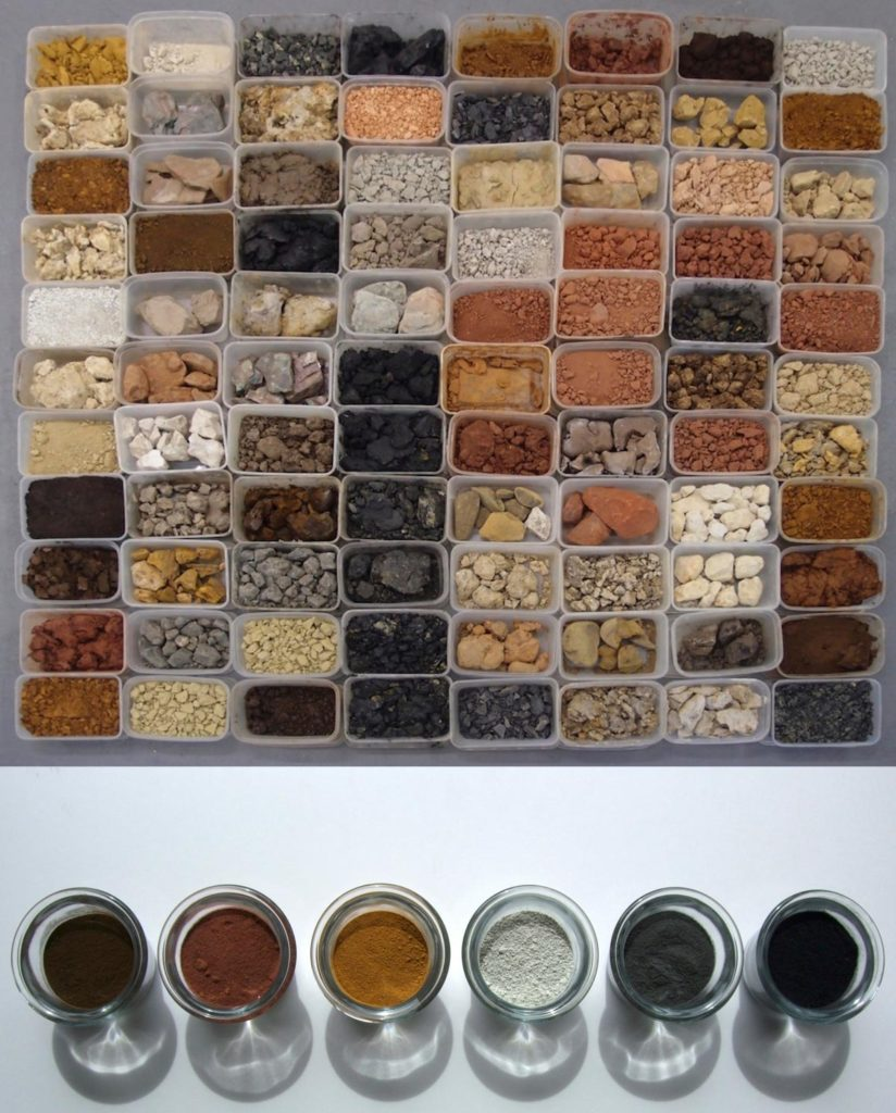 North Devon takeaway (painting with earth), found and ground earth pigments © Peter Ward 2008-2017
